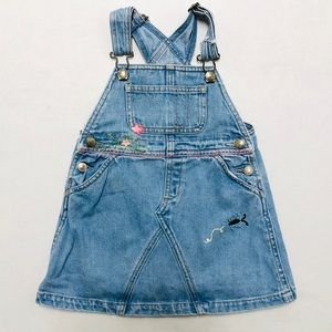 5/$25 Baby Gap Kids girl denim overalls dress 2 Y